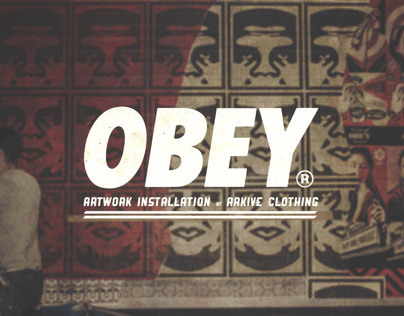 Photos from the Obey Installation at Arkive Clothing