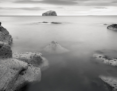 The Bass Rock from Seacliff