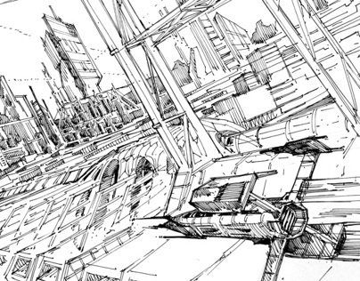 Future city - sketches