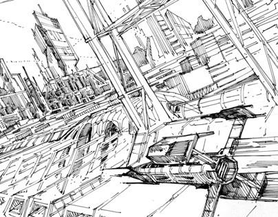 Future city - sketches