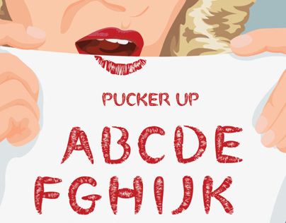 Pucker Up Typeface