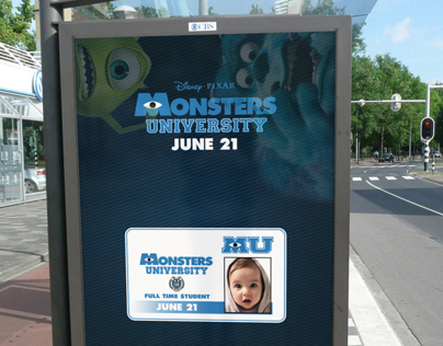 Monsters University Bus Stop Advertisement