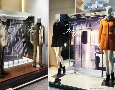 Tod's Group - FAY - Window display Fall/Winter 2012-13