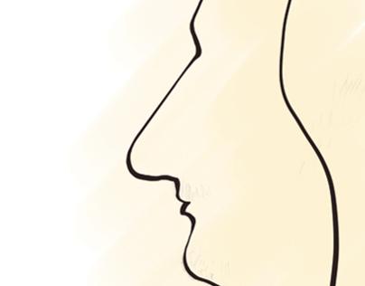 The Georgian woman in Profile