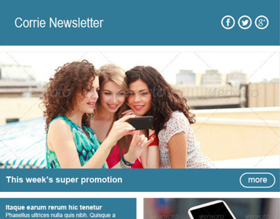 Corrie Newsletter Template