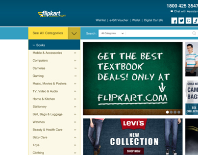 Freetime Assignment - Flipkart Redesign