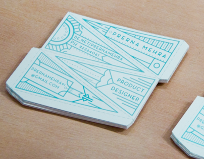 3D Tetrahedron Business Cards