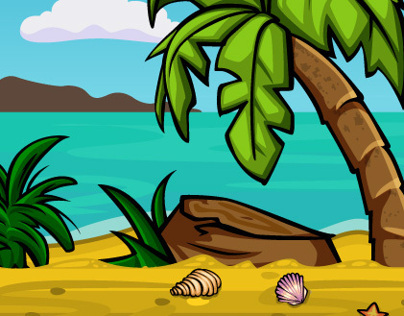 Beach Background for Mobile Game