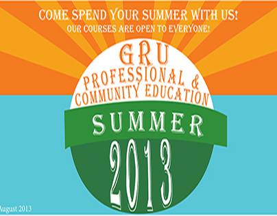 GRU Professional and Community Education Summer Catalog
