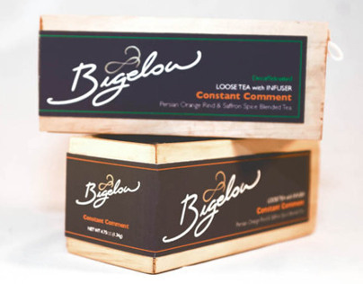 Bigelow Tea re-brand Packaging