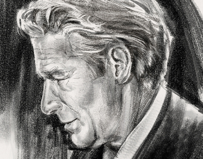 Photoshop Charcoal Portrait of Richard Gere