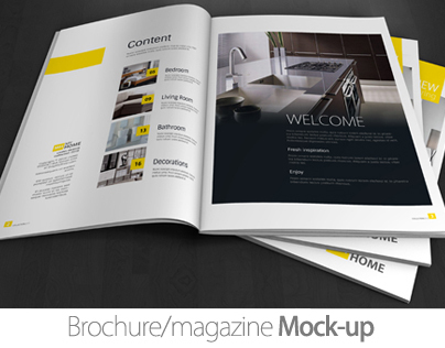 A4 Brochure/Magazine Mock-up