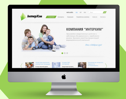 Site for medical company.