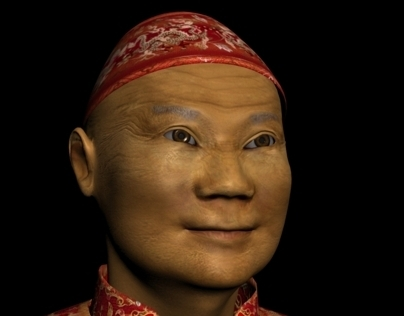 3D character: CHINAMAN. Мodeling and animation.