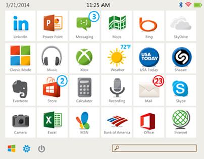 Microsoft Metro UI Concepts