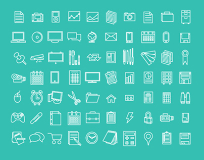 Free Icons: Office, Flat, Design
