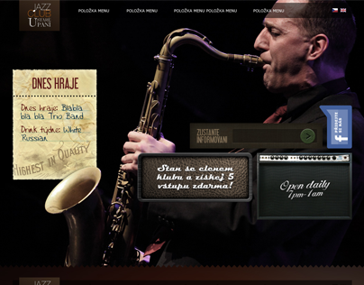 Jazz club U staré paní single page website