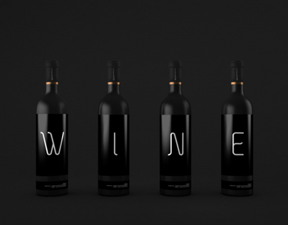 Wine Bottles Mock-up