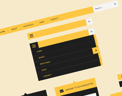 UI Flat Design Kit - Free PSD