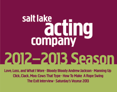 Salt Lake Acting Company 2012-13 Season Graphics