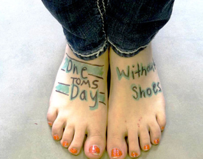 TOMS one day without shoes T-shirts