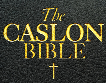 The CASLON BIBLE (Typographic Poster)
