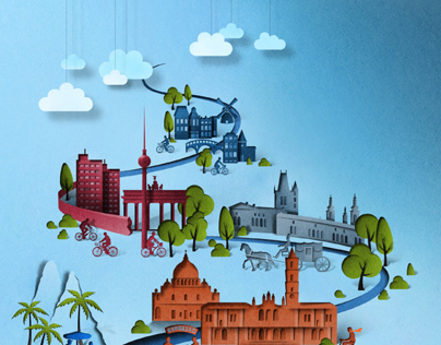 Editorial illustration for Sunday Times Travel.