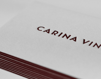 Carina Vinke - Minimalistic letterpress business cards