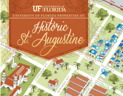 UF - Historic St. Augustine Properties Map Illustration
