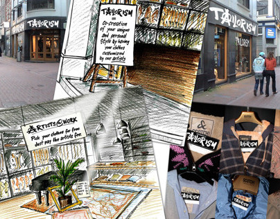 Scotch & Soda: Tailorism store and clothing concept