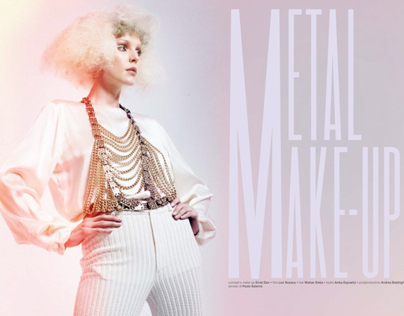 Metal Make-Up Beauty editorial for Trucco e Bellezza