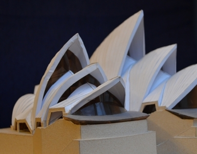 Model - Sydney Opera House, Jorn Utzon