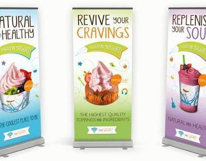 Orange Cup banner displays