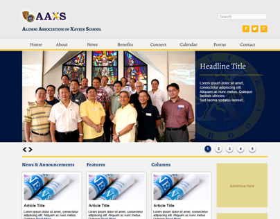 Web Design: Alumni Association of Xavier School