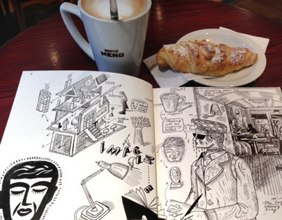 Daily Sketchbook and Coffee