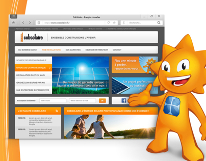 CobSolaire - Site Internet et Illustration