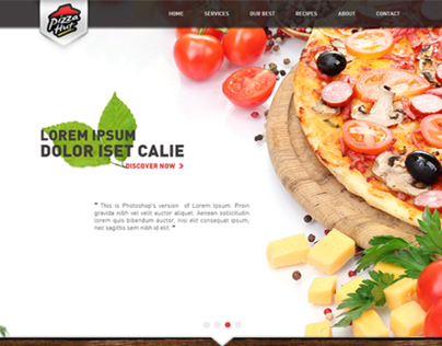 Pizza Hut Website Redesign