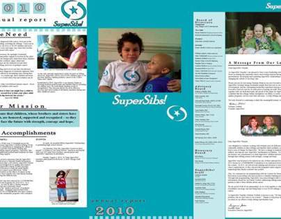 SuperSibs! Annual Report Page 1 (tri-fold)