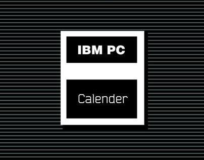 Retro PC Calender