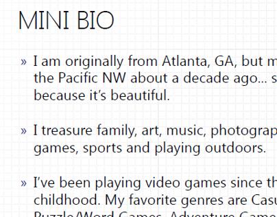 Mini Bio