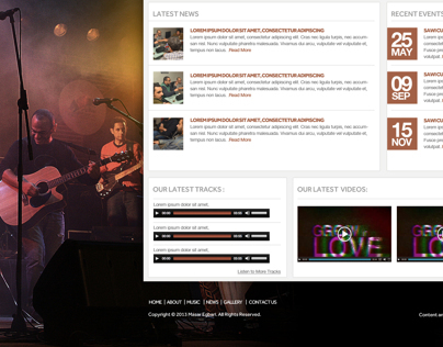 Massar Egbari Band Website Design