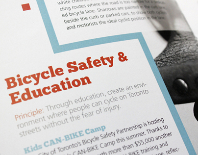 Toronto Bike Plan Brochure