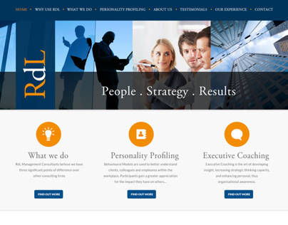 RDL Management Consultants Website Design