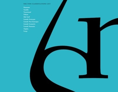 Type Classification Poster Series