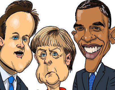 Caricatures G8 leaders
