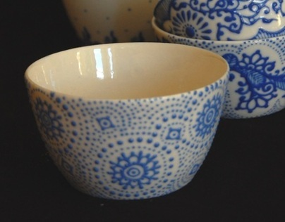 Porcelain Blue and White - Commissioned by Jamfactory