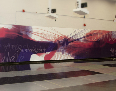 MIT Fencing Room Wall Graphics