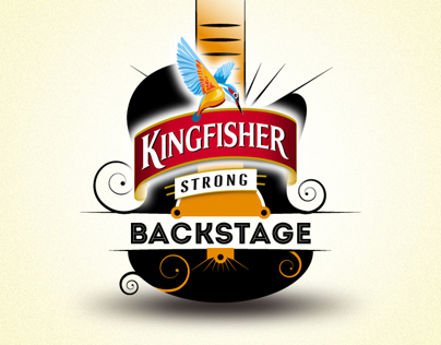 Kingfisher Backstage logo design