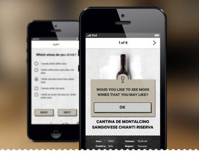 Winetasting iPhone app for Winecast.com