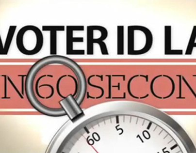 Voter ID Law in 60 Seconds